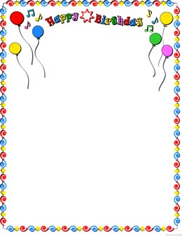 Birthday party boarders clipart banner stock Free Party Frame Cliparts, Download Free Clip Art, Free Clip Art on ... banner stock