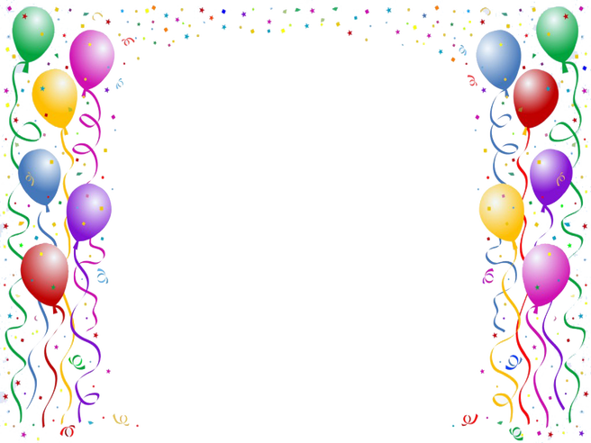 Birthday party boarders clipart graphic freeuse download Birthday party border clipart images gallery for free download ... graphic freeuse download
