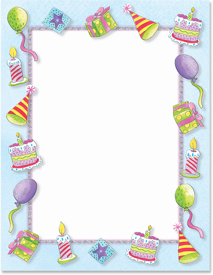 Birthday party boarders clipart banner freeuse library party border - Emayti.australianuniversities.co banner freeuse library