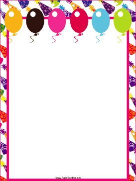 Birthday party boarders clipart clip art royalty free library This free, printable party border features festive hats and colorful ... clip art royalty free library