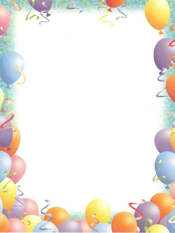 Birthday party boarders clipart image royalty free Birthday border clip art clipart photo – Gclipart.com image royalty free