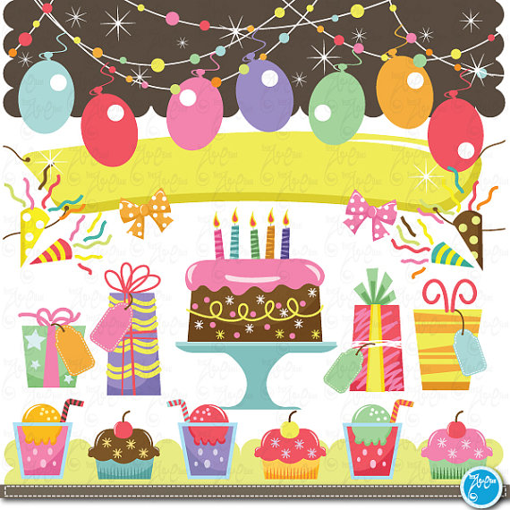 birthday Clip Art , baby birthday, party graphic kids party perfect ... download