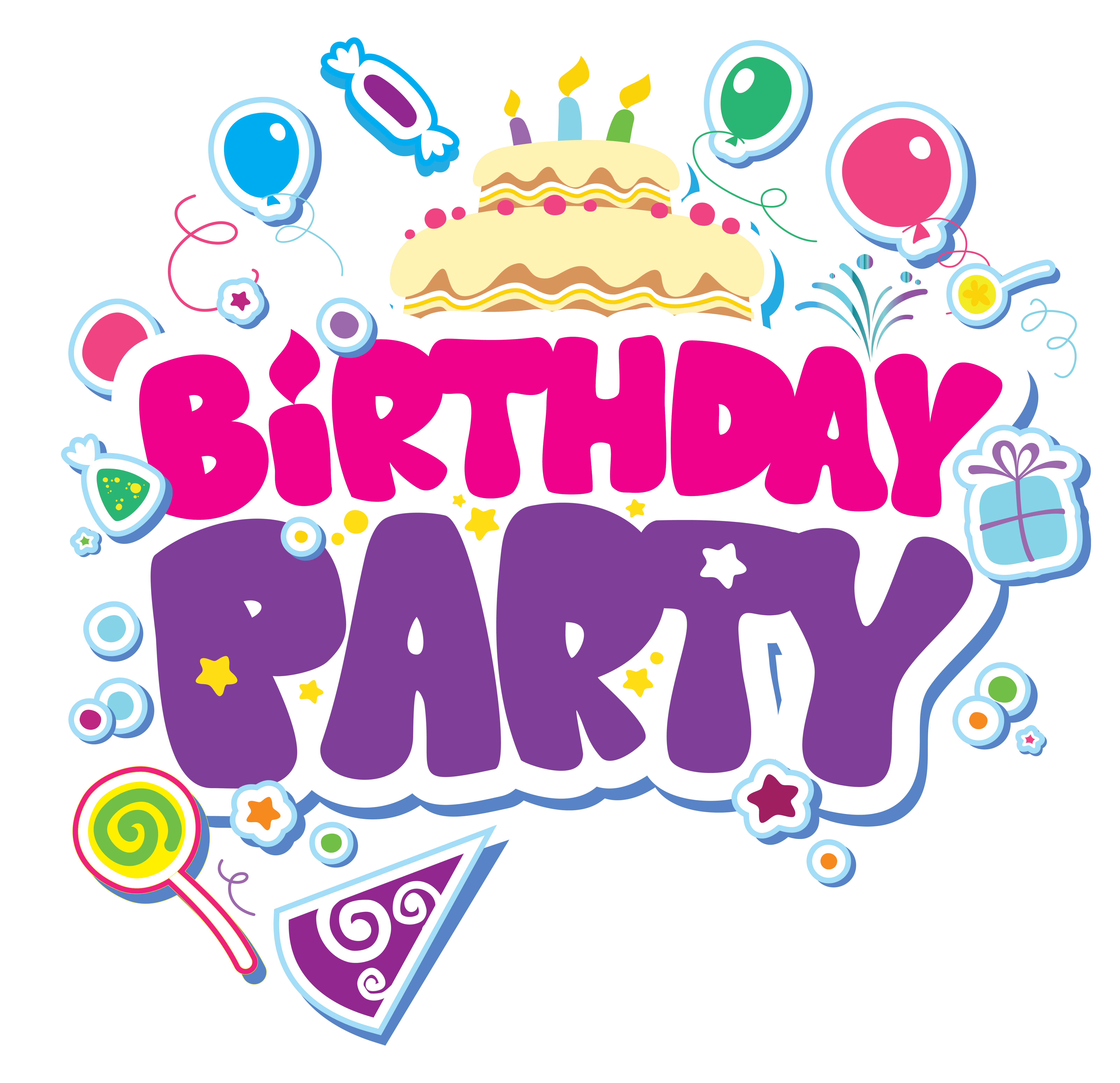 Clipart birthday party pictures clipart free library Birthday Party PNG Clipart Picture | Gallery Yopriceville - High ... clipart free library