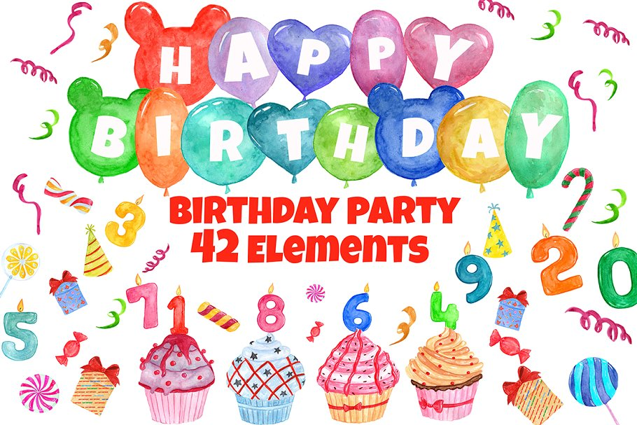 Birthday Party clipart graphic free