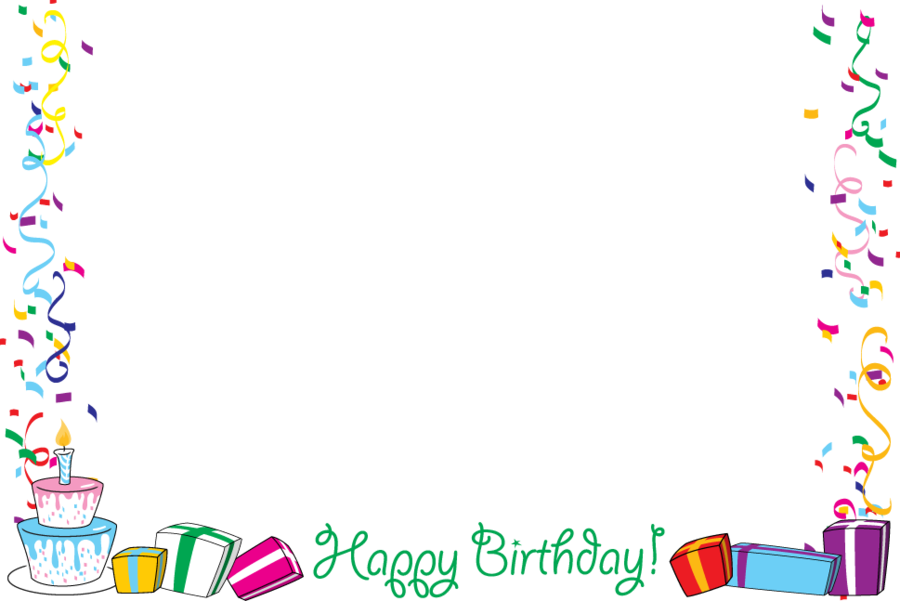 Birthday party clipart borders banner download Birthday Party Background clipart - Birthday, Party, Text ... banner download