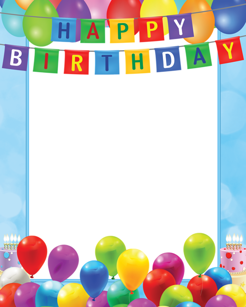 Birthday party clipart borders banner black and white library Pin by Sandra Bester on Borders, Frames & Backgrounds | Happy ... banner black and white library