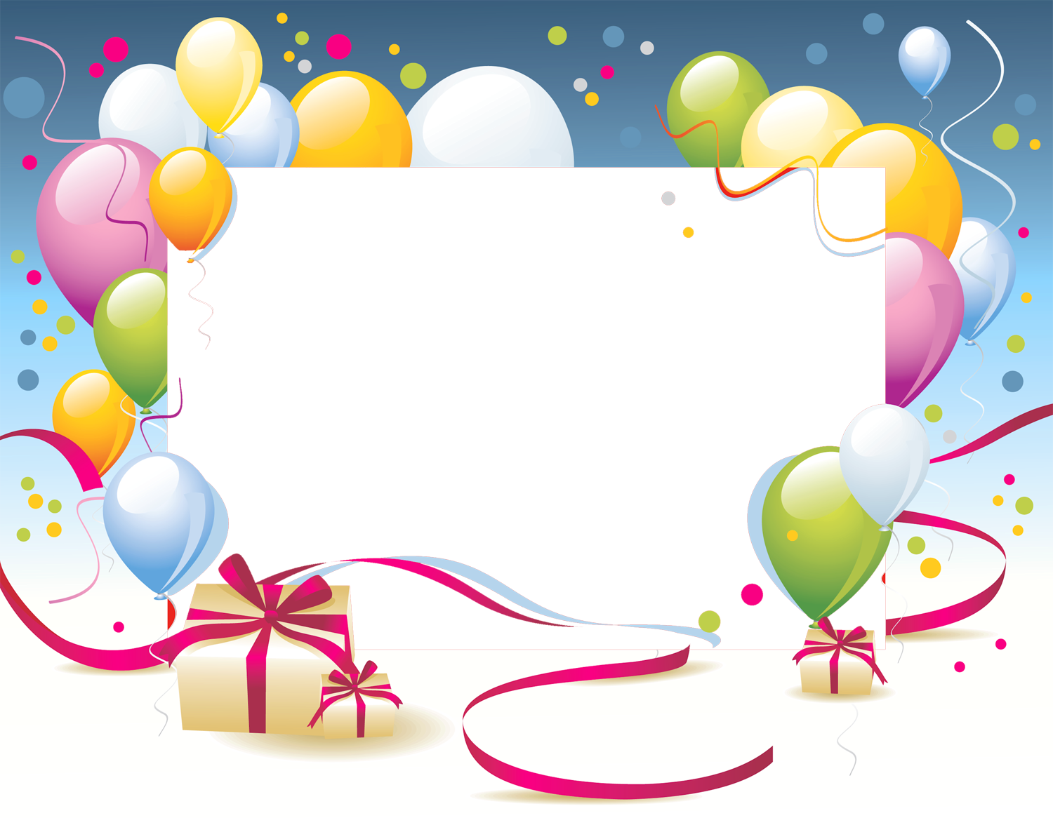 Birthday photo frame clipart banner free Birthday Transparent PNG Photo Frame   Gallery Yopriceville - High ... banner free
