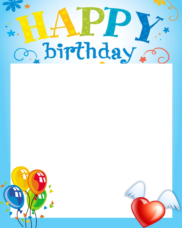 Birthday picture frame clipart svg transparent library Free Birthday Frames, Download Free Clip Art, Free Clip Art on ... svg transparent library