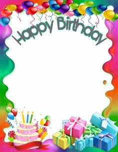Birthday photo frame clipart picture black and white library 37 Best Happy birthday frame images in 2017   Happy birthday frame ... picture black and white library
