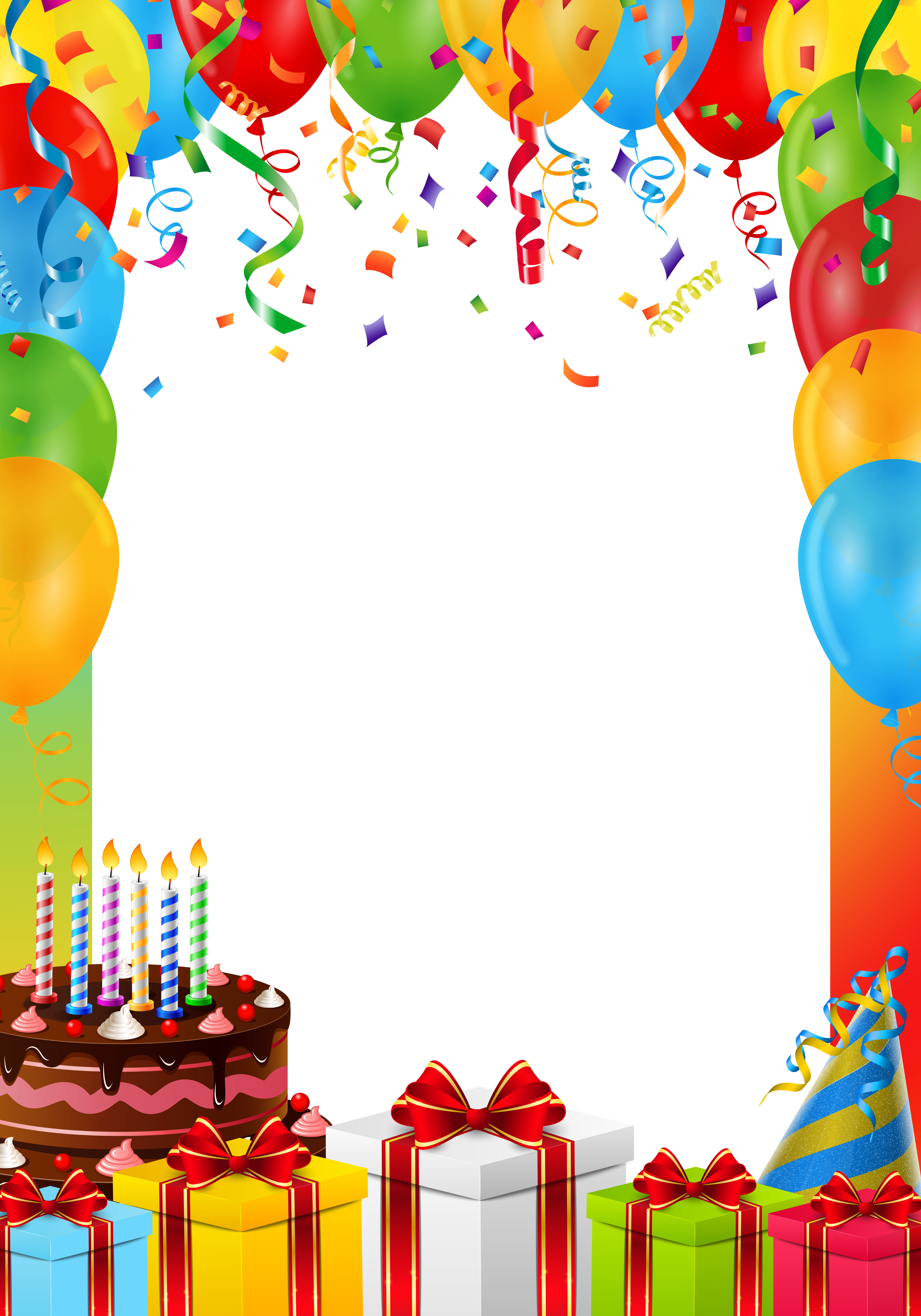Birthday picture frame clipart freeuse download Birthday Frame PNG Transparent Image | Gallery Yopriceville - High ... freeuse download