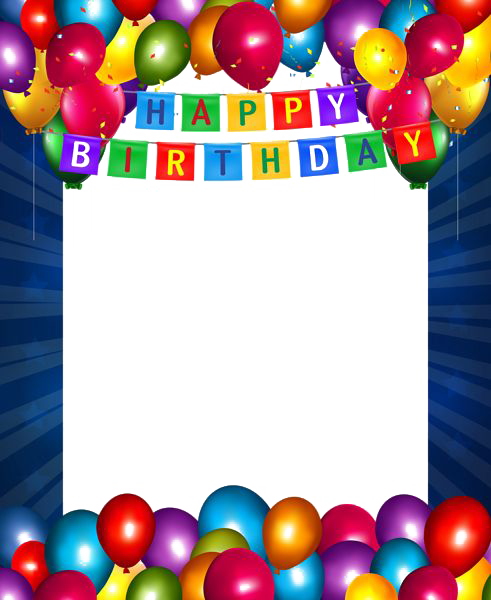 Birthday photo frame clipart vector freeuse library Happy Birthday Photo Frame clipart - Birthday, Party, Balloon ... vector freeuse library