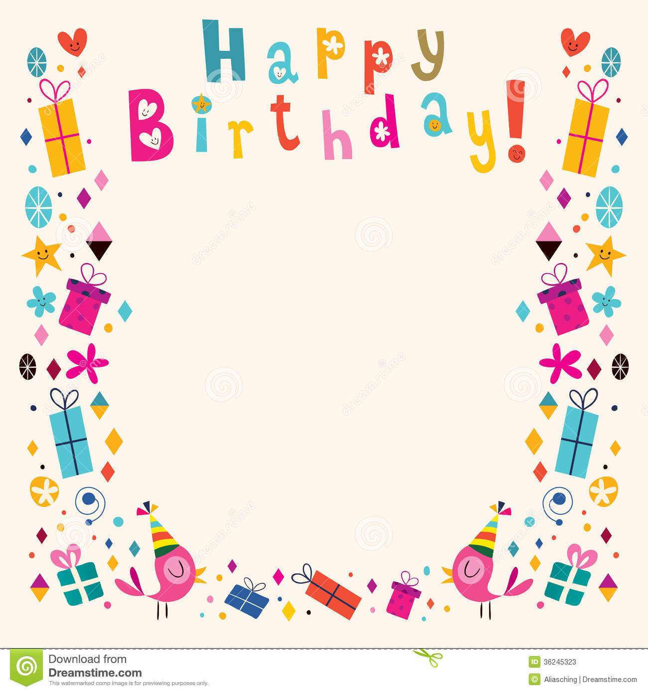 Birthday picture frame clipart graphic freeuse library Happy birthday frame clipart 3 » Clipart Portal graphic freeuse library