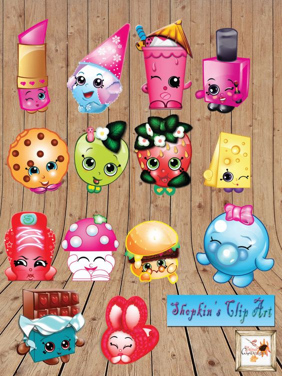 Birthday shopkins clipart banner library library Little Groceries Birthday Printable Party High Resolution Clip-Art ... banner library library