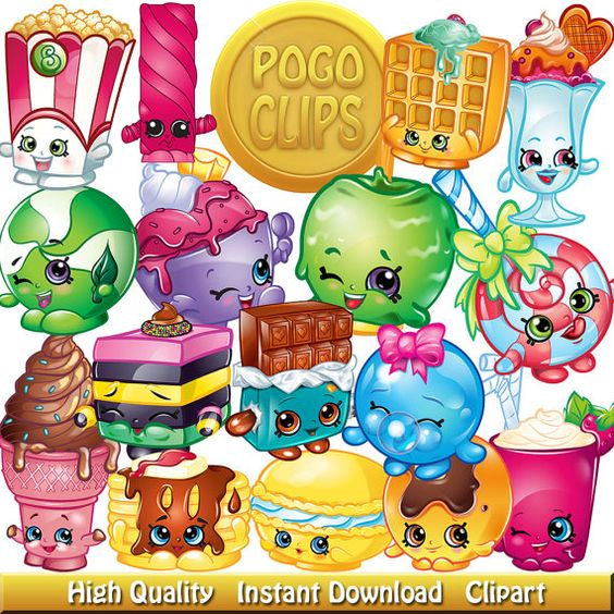 Birthday shopkins clipart transparent background image transparent download 78 Sweet Treats Shopkins clipart Characters / Clip Art DIY Instant ... image transparent download