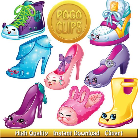 Birthday shopkins clipart transparent background stock 49 Shopkins Shoes Clip Art DIY Instant Download Printable High ... stock