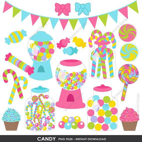 Birthday shopping clipart jpg black and white download Candy Shop Clipart , Sweet Candies Clip Art, Candyland Birthday ... jpg black and white download