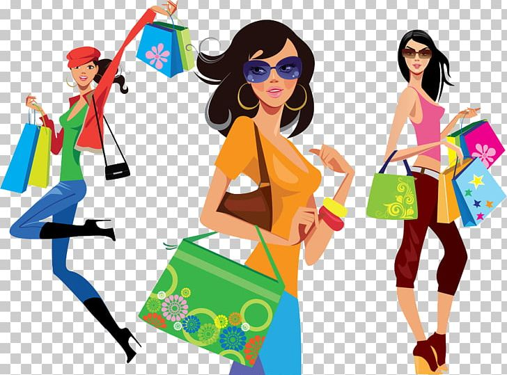 Birthday shopping clipart svg royalty free library Shopping Girl Illustration PNG, Clipart, Creative Background ... svg royalty free library