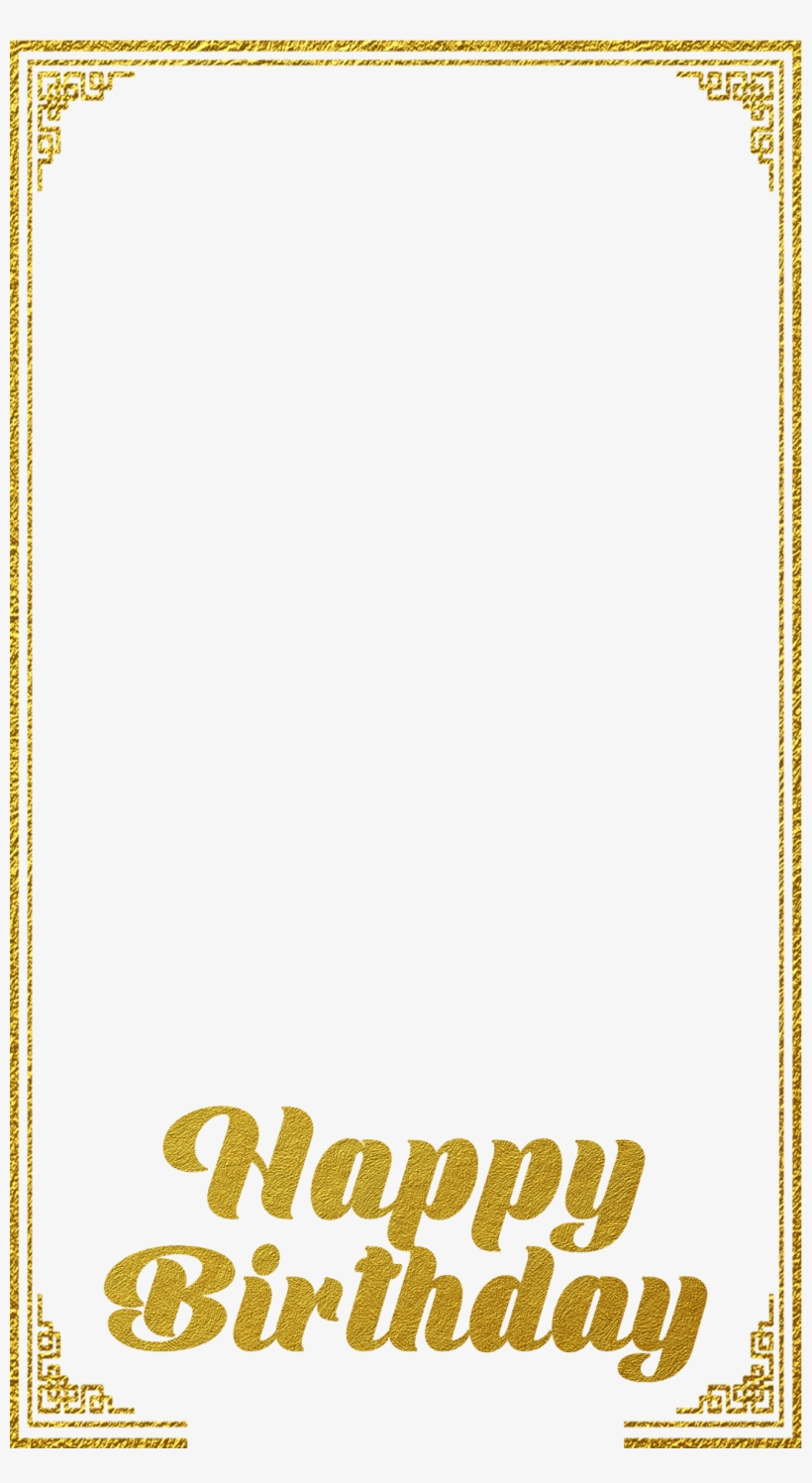 Birthday snapchat filter clipart jpg royalty free stock Gold Frame Birthday Snapchat Filter Geofilter Maker - Poster ... jpg royalty free stock
