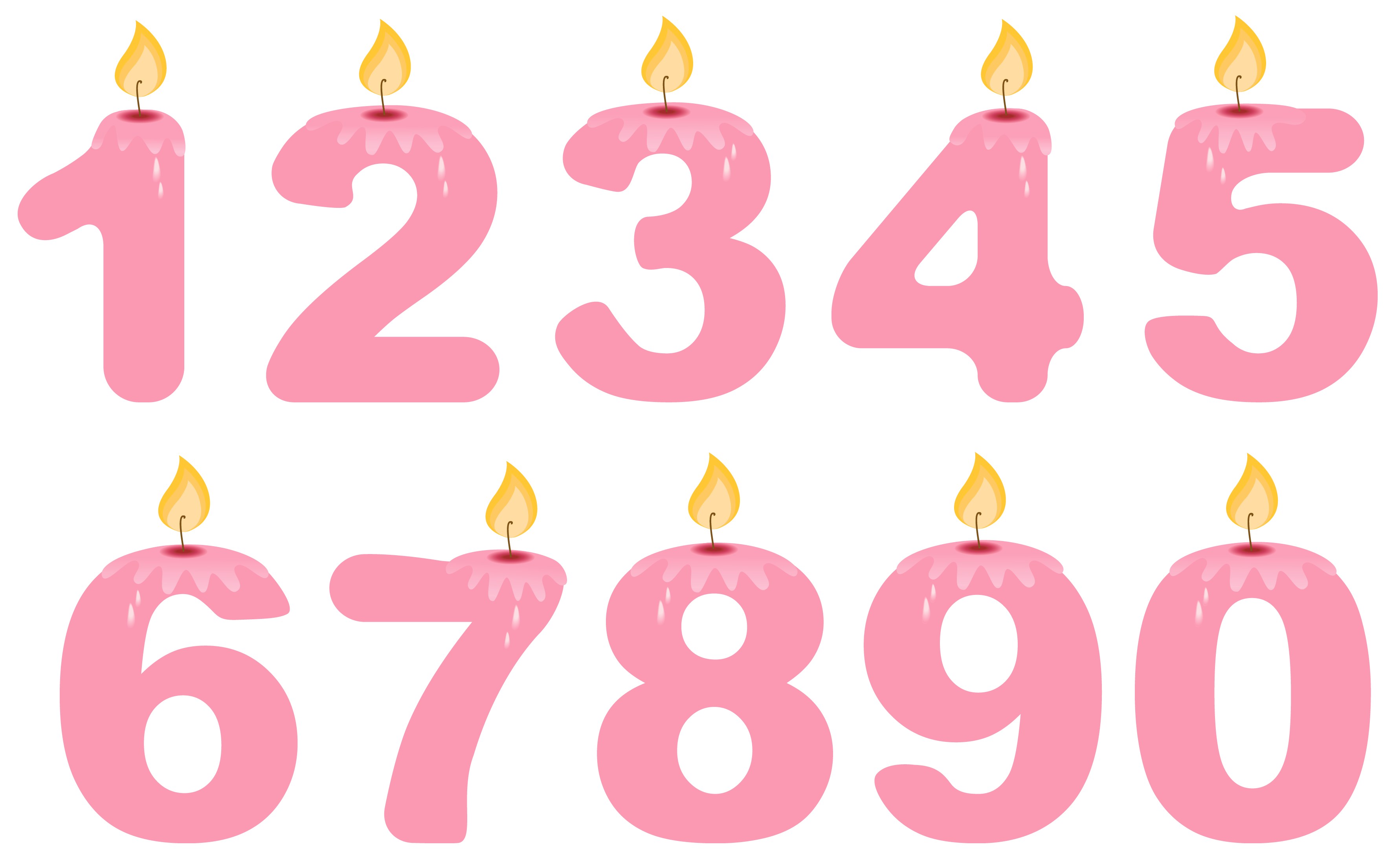 Birthday star clipart clip free Transparent Numbers Birthday Candles Pink PNG Clipart | Gallery ... clip free