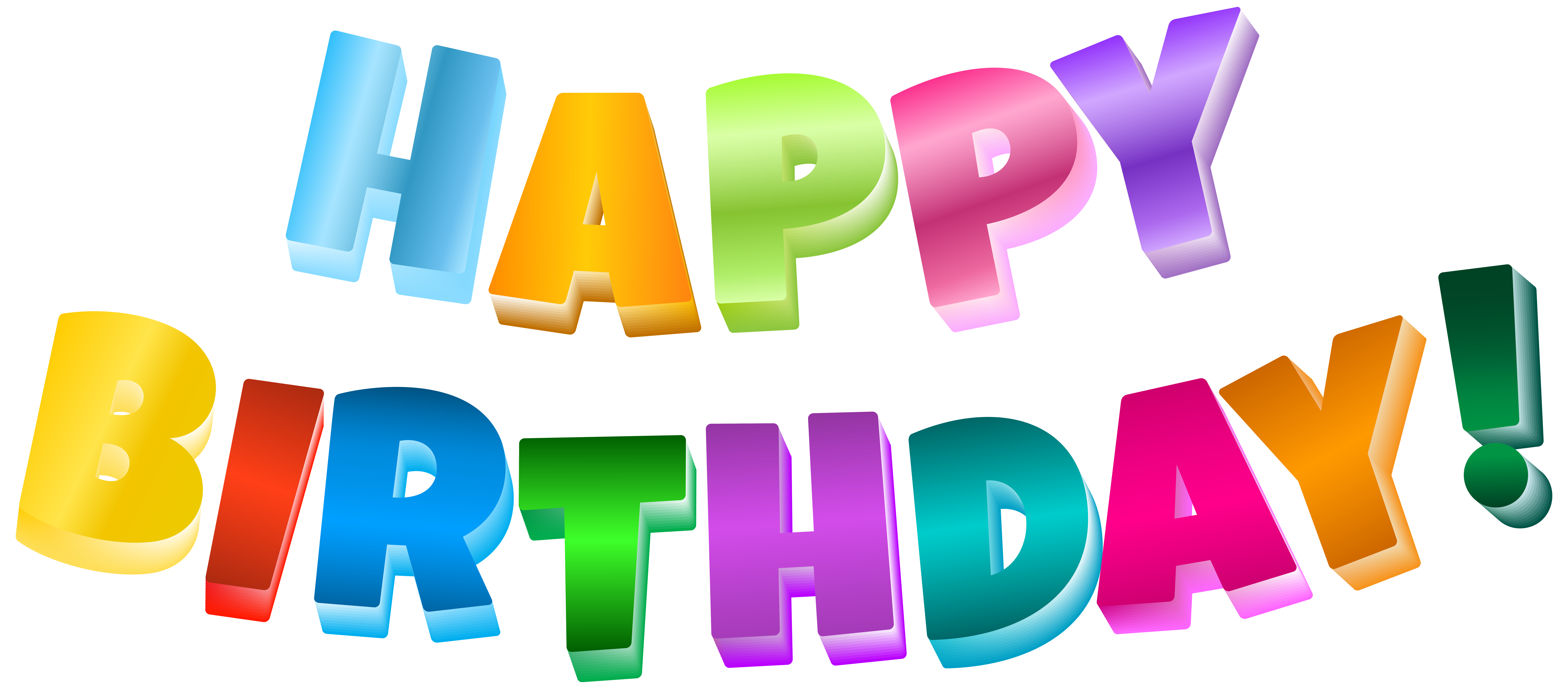Birthday star clipart clipart royalty free library Multicolor Happy Birthday Transparent PNG Clip Art Image | Gallery ... clipart royalty free library