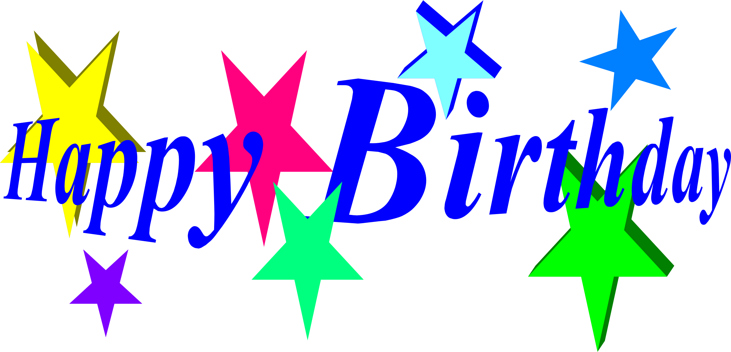 Birthday star clipart clip art download Clipart - happy birthday clip art download