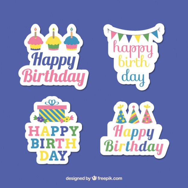 Birthday stickers clipart vector free download Birthday stickers Vector | Free Download vector free download