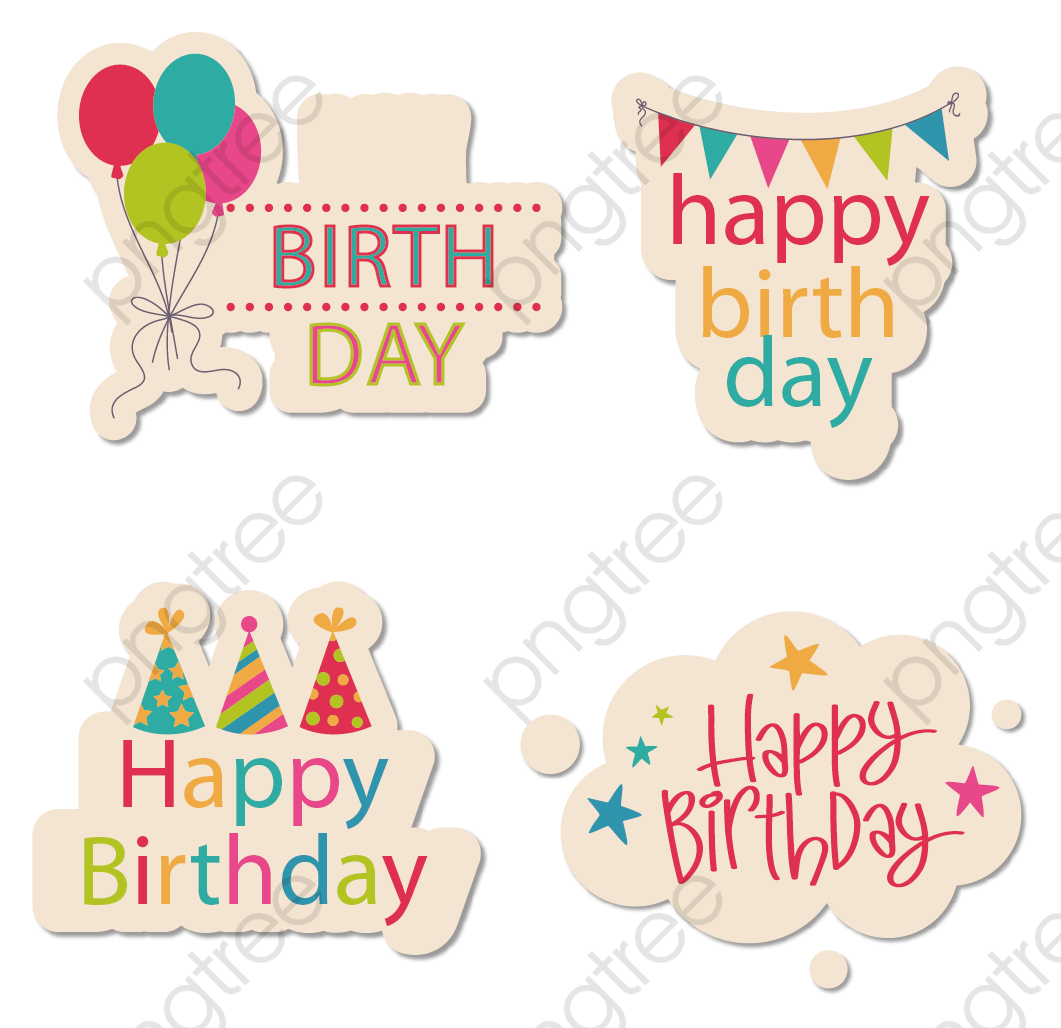 Birthday stickers clipart clip art royalty free stock Happy Birthday Stickers Png - Mary Rosh clip art royalty free stock