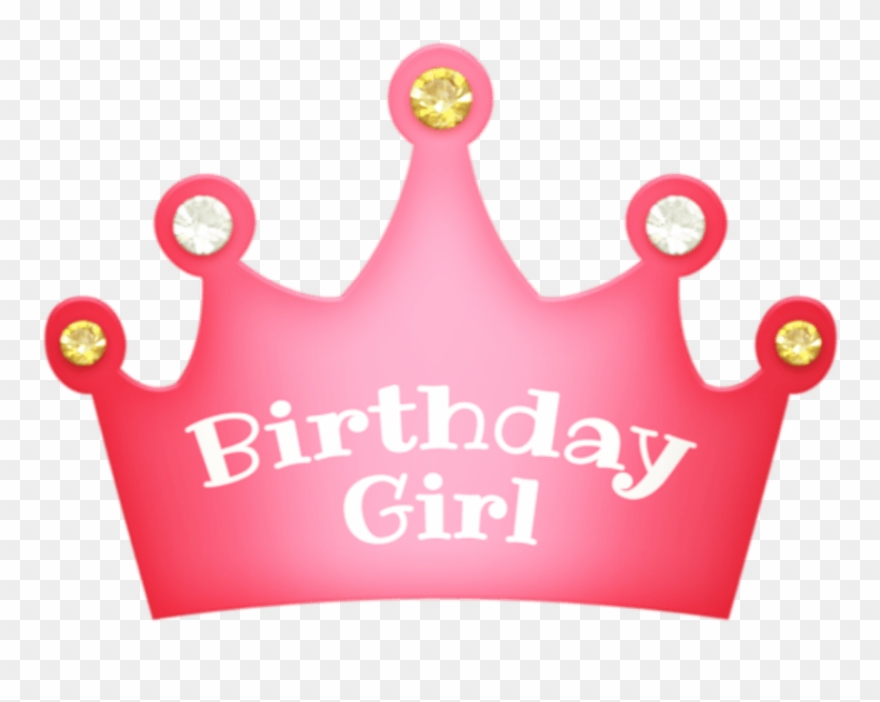 Birthday tiara clipart vector black and white Girl Birthday Crown Png Free Download - Transparent Birthday Girl ... vector black and white