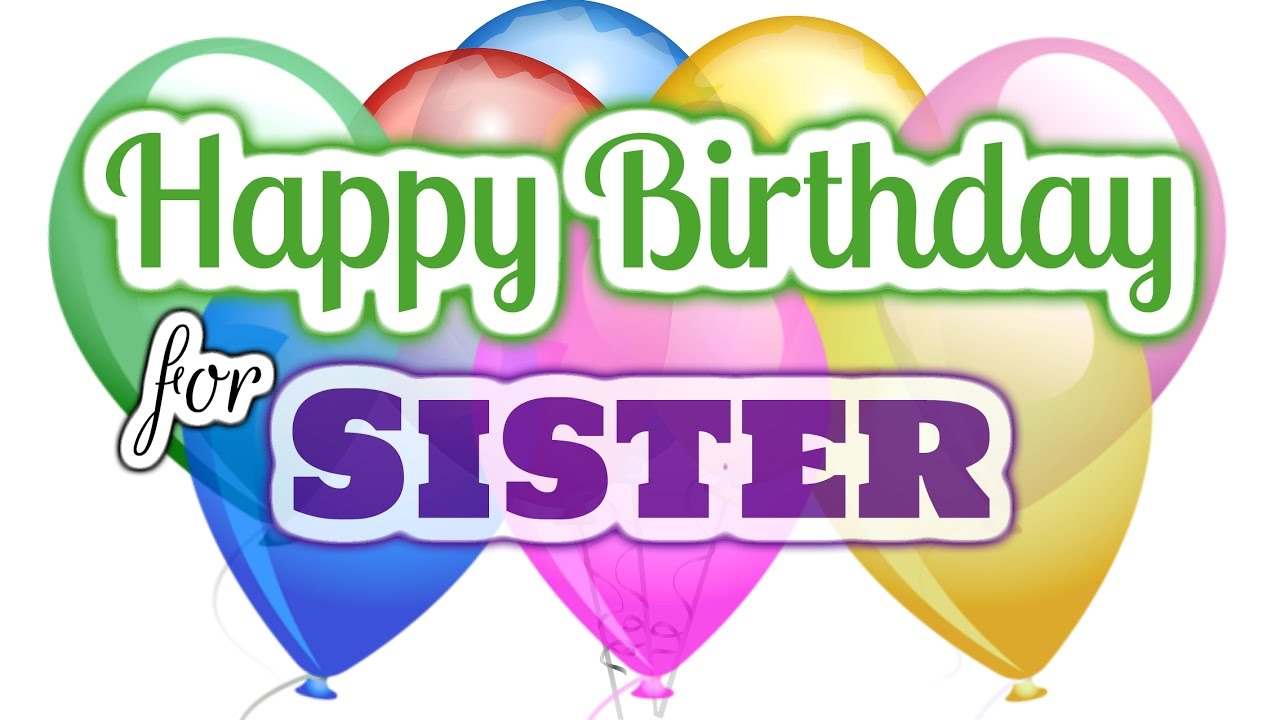 Birthday wishes for sister clipart banner freeuse Happy Birthday Wishes for Sister banner freeuse