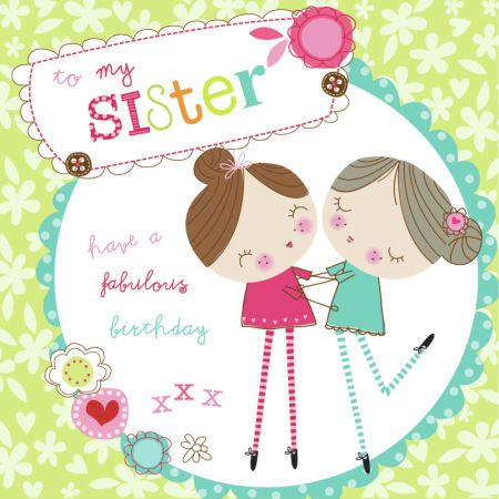 Birthday wishes for sister clipart library Related image | Clip Art (Birthday) | Happy birthday sister, Sister ... library