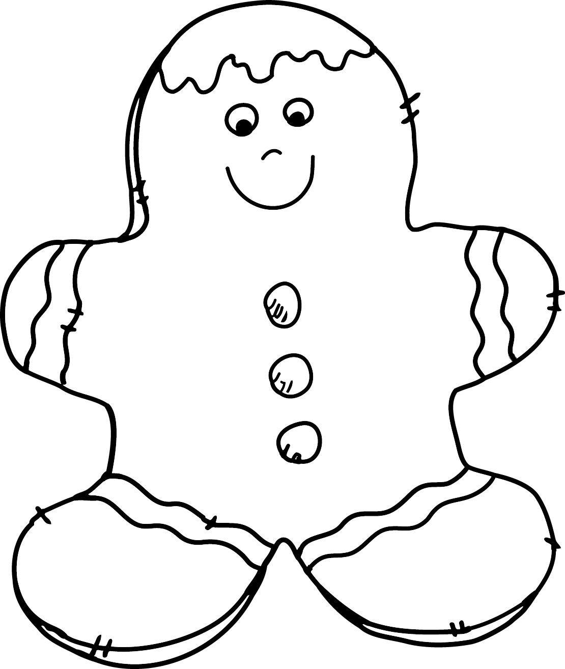 Christmas cookies clipart black and white clipart free stock Gingerbread Man Clipart | jokingart.com clipart free stock