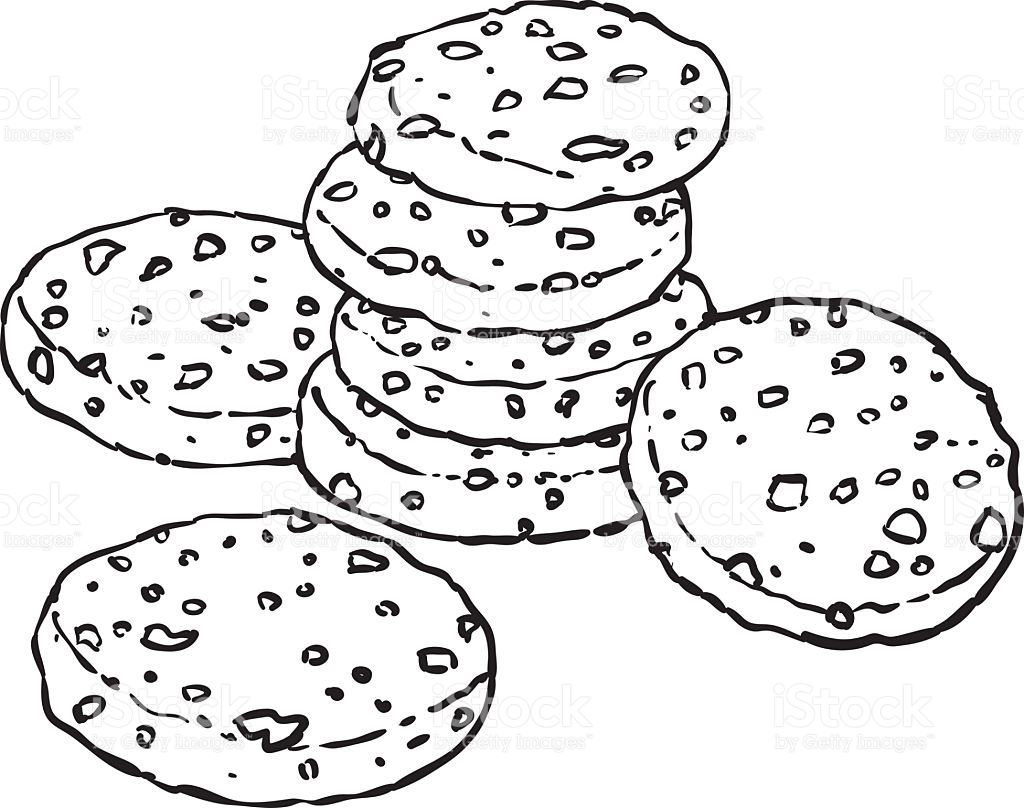Biscuits clipart black and white svg transparent Cookie Clipart Black And White - Free Clipart svg transparent
