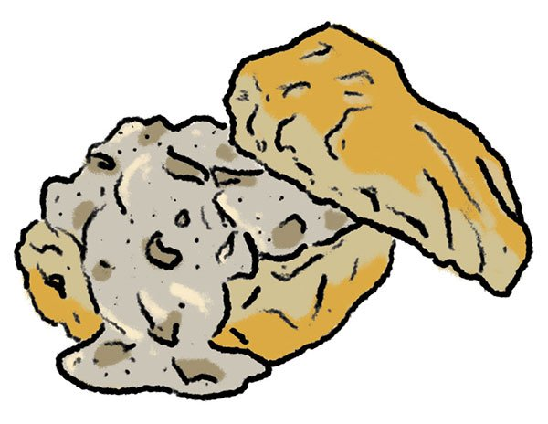 Biscuits and gravy clipart black and white clip art black and white stock An Australian Transplant Banishes Homesickness with a Southern Dish ... clip art black and white stock