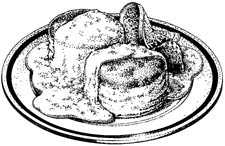 Biscuits and gravy clipart black and white picture freeuse library 2011 Breakfast picture freeuse library
