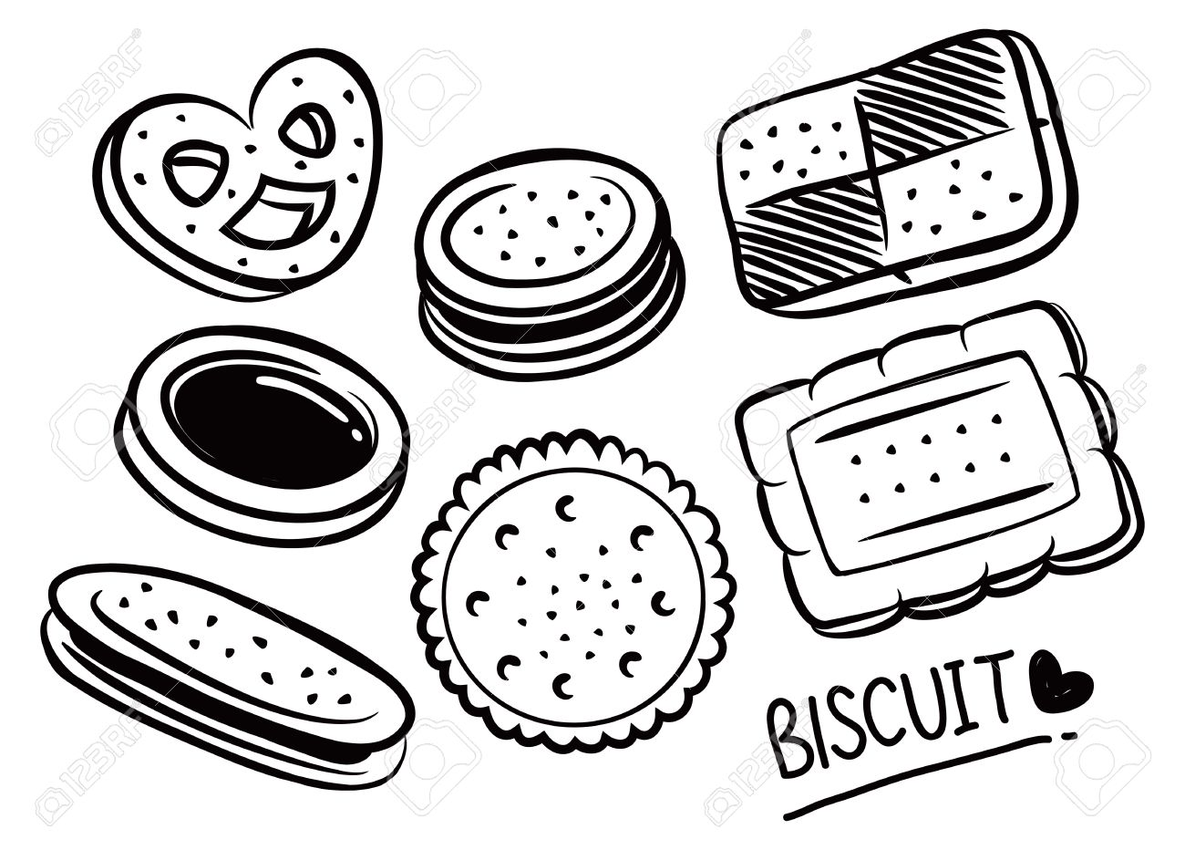 Biscuits clipart black and white image library stock Biscuit clipart black and white 1 » Clipart Station image library stock