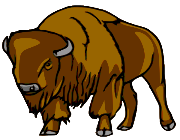 Bison head clipart jpg black and white Free Cartoon Bison Cliparts, Download Free Clip Art, Free Clip Art ... jpg black and white