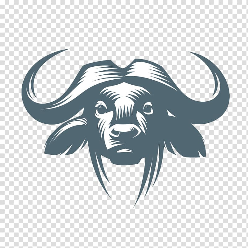 Bison head clipart clipart black and white download Buffalo logo, American bison Water buffalo Cattle African buffalo ... clipart black and white download