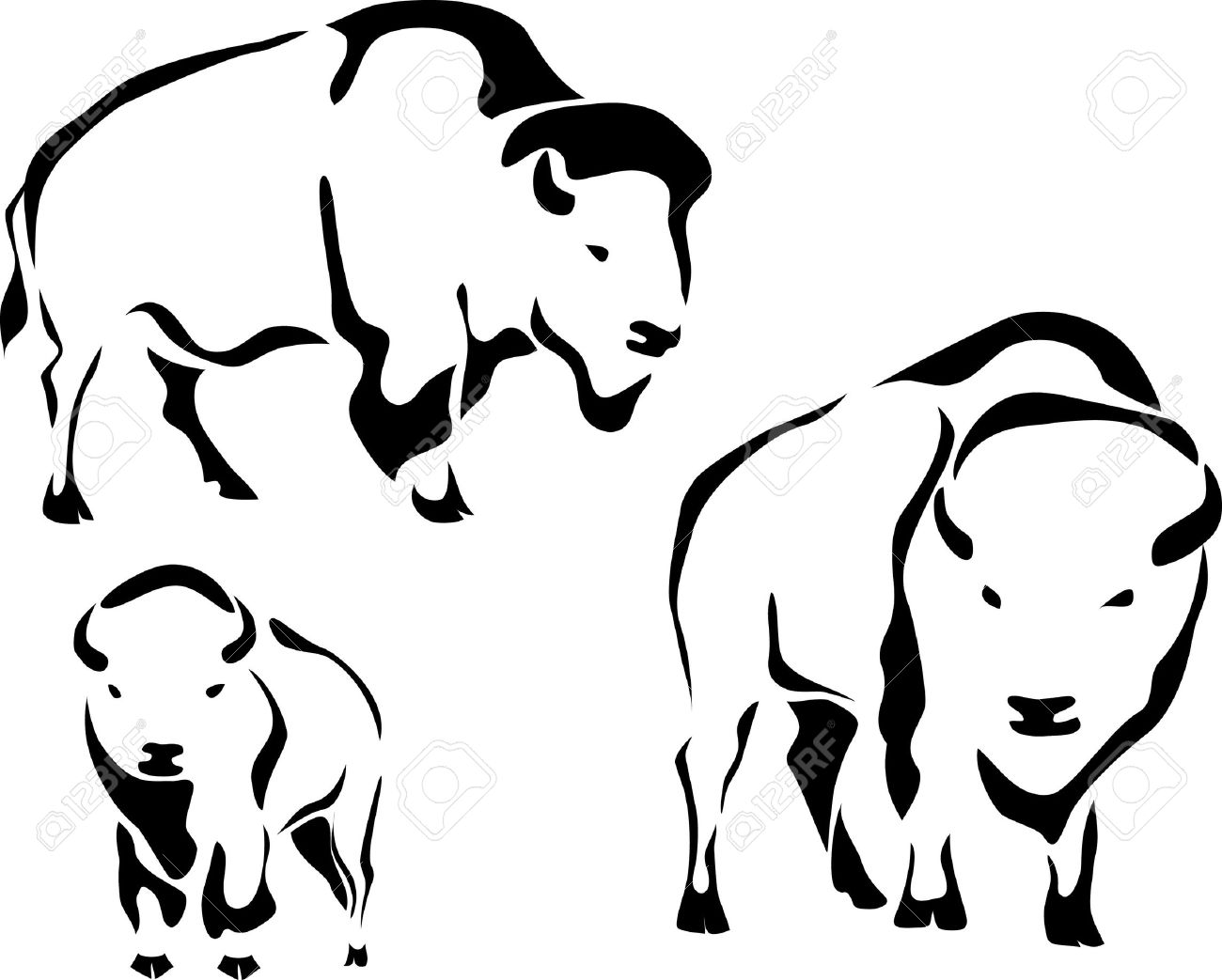 Bison head clipart black and white png royalty free Free Black Bison Cliparts, Download Free Clip Art, Free Clip Art on ... png royalty free