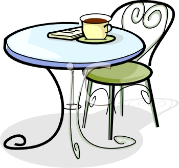 Cafeteria table clipart graphic bistro cafe table\