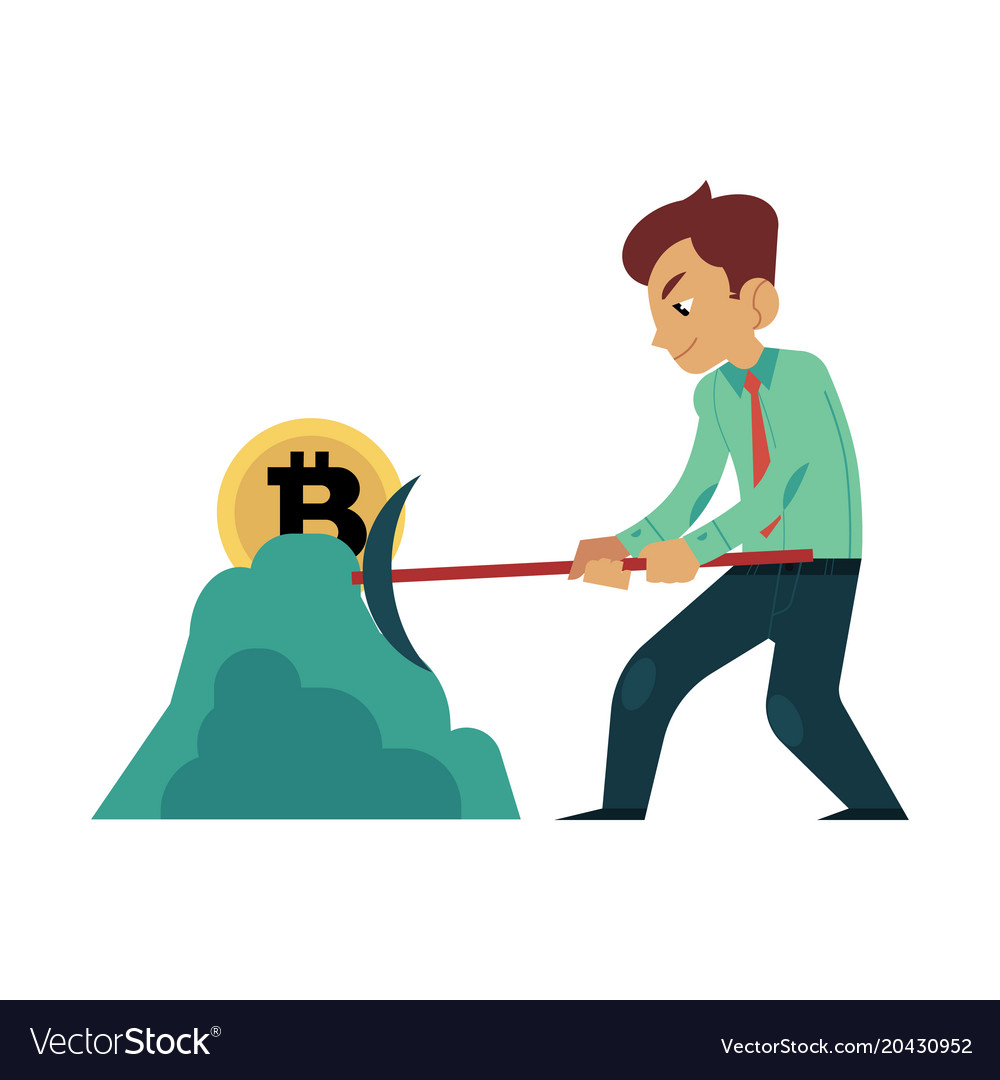 Bitcoin miner clipart