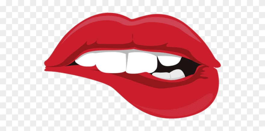 Biting lip clipart transparent background picture royalty free library Drawn Tongue Lip Bite - Biting Lip Clipart - Png Download (#2090851 ... picture royalty free library