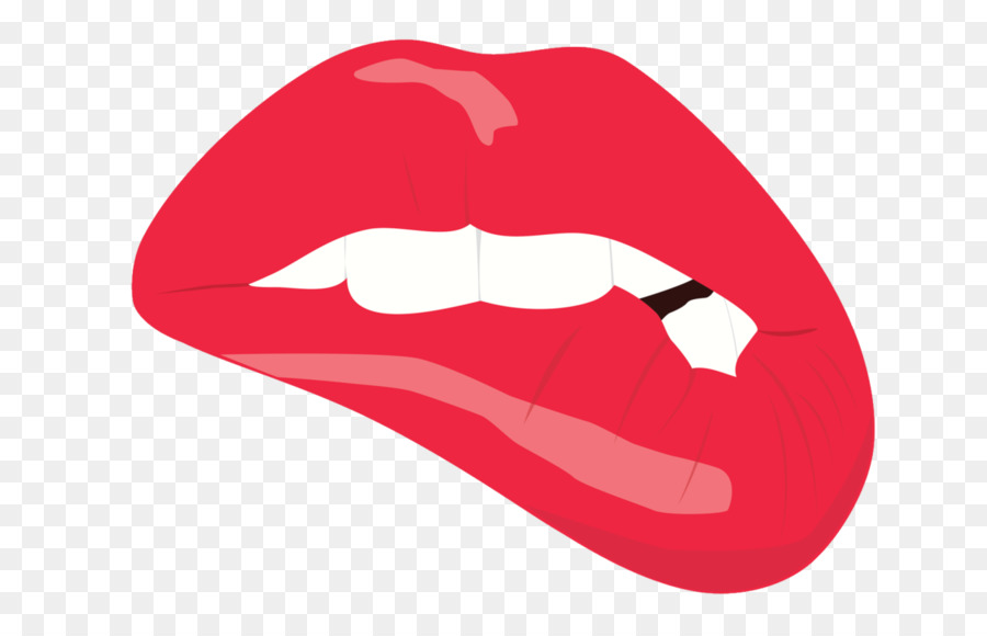 Biting lip clipart transparent background image freeuse download Tooth Cartoon png download - 1280*800 - Free Transparent Lip png ... image freeuse download