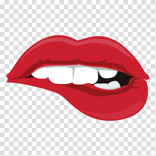 Biting lips clipart picture transparent stock Lip Encapsulated PostScript Biting, red lips transparent background ... picture transparent stock