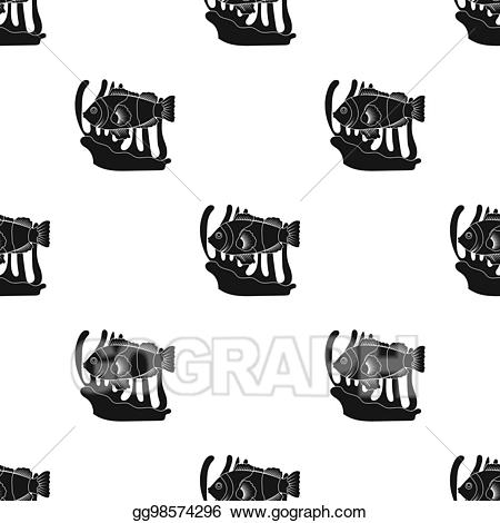 Bitmap clipart black and white clipart free Stock Illustration - Clownfish and anemone icon in black style ... clipart free