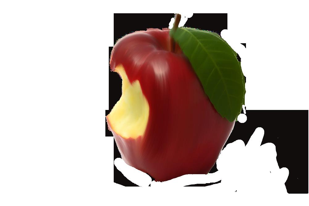 Bitten red apple clipart banner library Nix-Ming | DeviantArt banner library