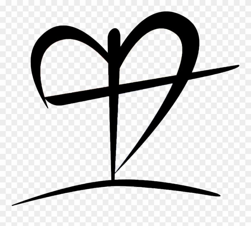 Heart and cross black and white clipart svg royalty free stock Black And White Clip Art Of Heart With Cross - Heart And Cross Png ... svg royalty free stock