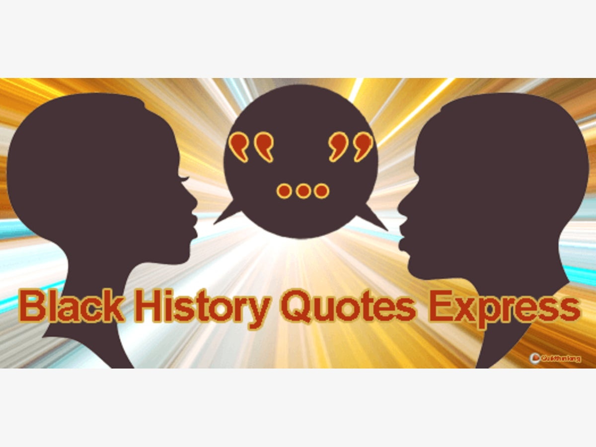 Blachk history clipart with quotes picture black and white stock Quikthinking Software Launches Two New Black History Android Apps ... picture black and white stock