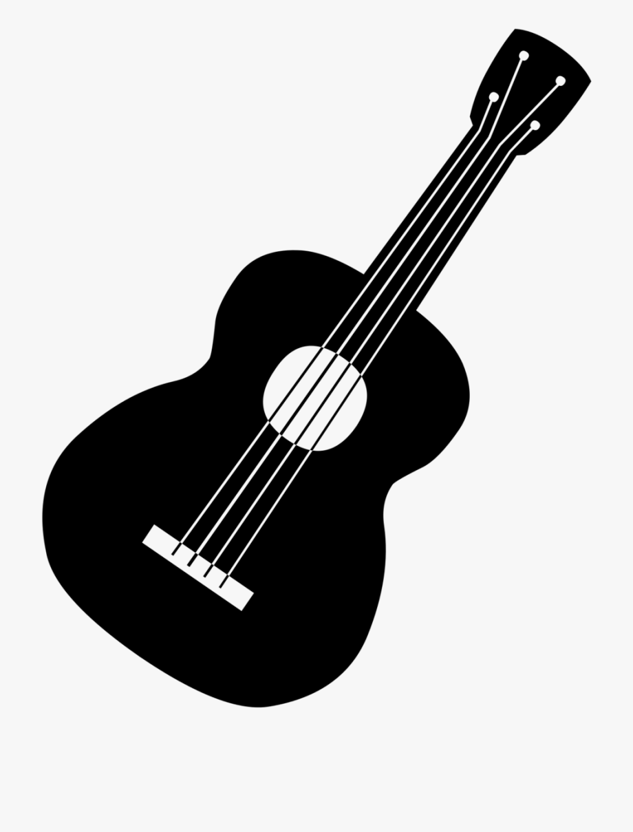 Guitar Clip Art Image Black A - Acoustic Guitar Black And White Png ... png royalty free