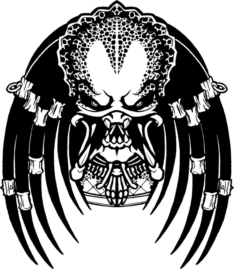 Black an white clipart of predator alien image royalty free download Download Free png predator - DLPNG.com image royalty free download