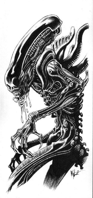 Black an white clipart of predator alien image transparent library Alien artwork on Clipart library   Aliens, Xenomorph and Alien Vs ... image transparent library
